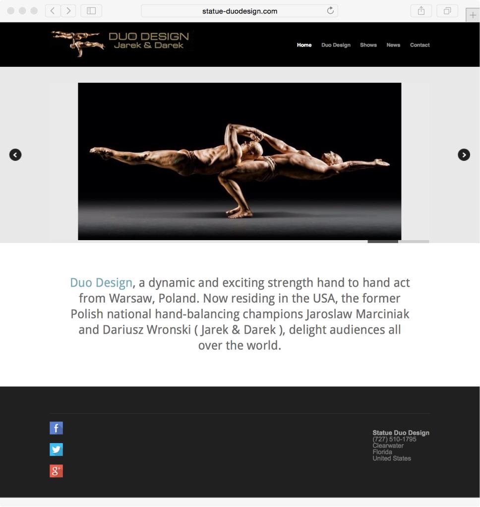 statue-duodesign strength hand balancing team